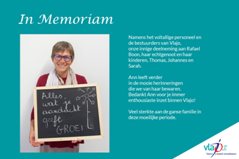 In Memoriam collega Ann