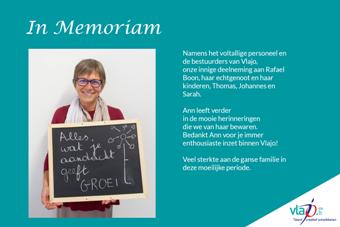 In Memoriam collega Ann