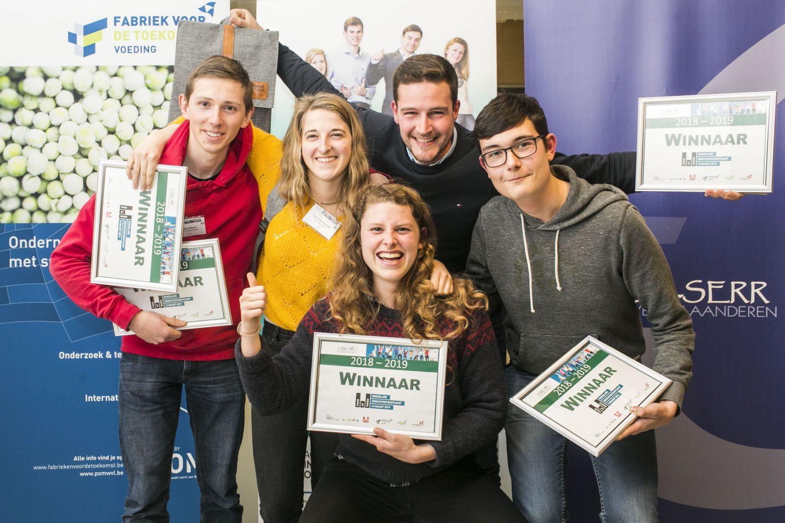 Studenten winnen Food at Work Innovation Bootcamp met innovatieve app voor Meat & More
