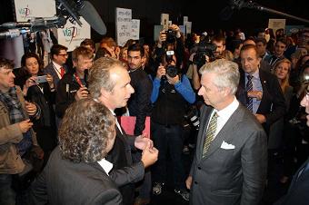Koning Filip meets Vlajo